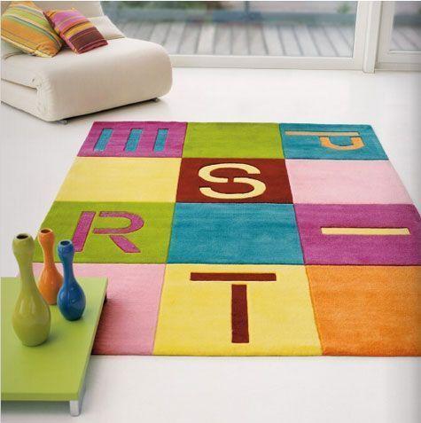 alfombra infantil con letras