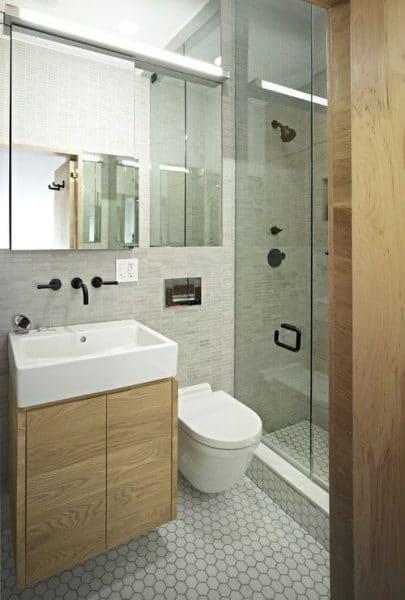 baño pequeño y moderno
