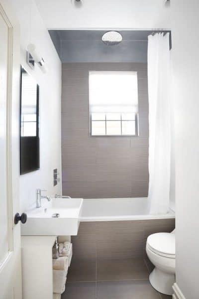 baño chico blanco y gris