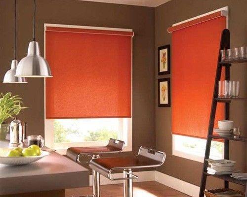 cortina roller naranja