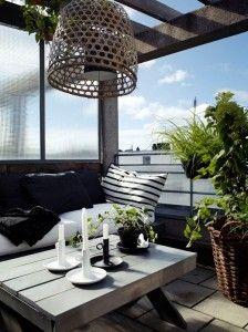 decoracion de una pequeña terraza