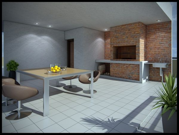 Foto de quincho moderno casa web for Parrillas para casas modernas