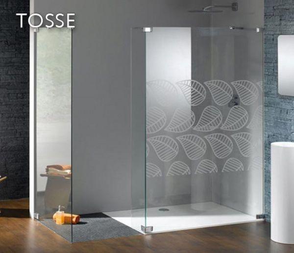 Ba os modernos con ducha con mampara casa web - Vetri per doccia ...