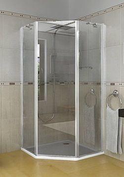 Mampara para ducha esquina casa web for Banos modernos con ducha fotos