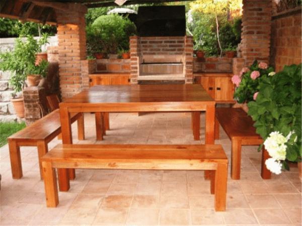 Mobiliario para quinchos casa web for Casa mobiliario jardin