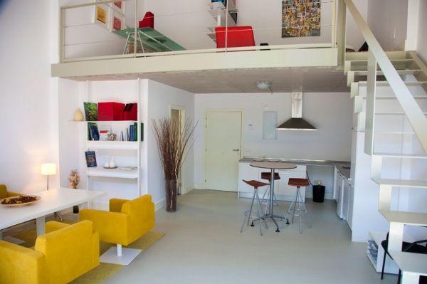 Monoambientes con entrepiso modernos y minimalistas casa web - Como decorar un loft ...