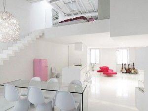 monoambiente con entre piso minimalista