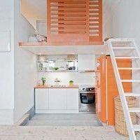 monoambiente con entre piso moderno