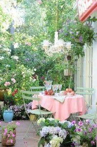 mueble de jardin estilo Vintage