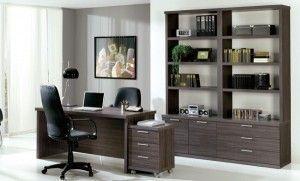 oficina con pared gris