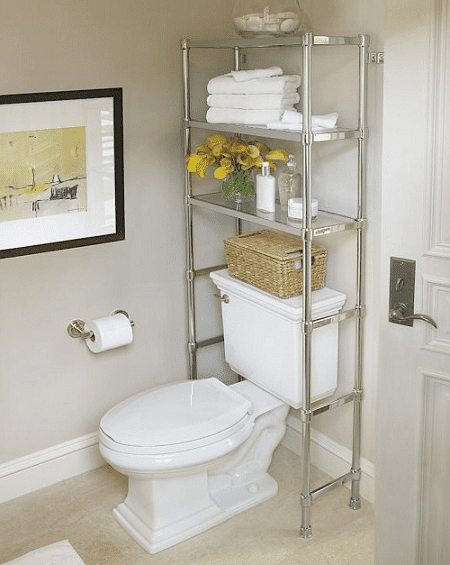 Decoracion Baños Pequenos Ideas:Bathroom Shelves Over Toilet Storage Ideas