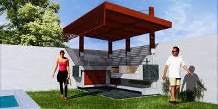 Peque o quincho moderno casa web for Casa quinchos modernos fotos