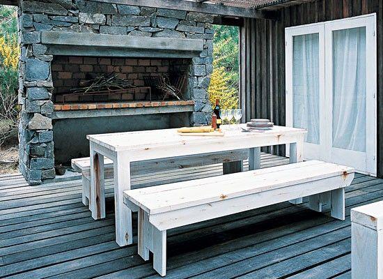 Dise o de quinchos modernos casa web for Parrilla de material para casa