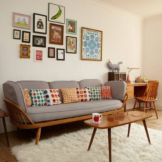sala de estar vntage