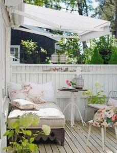 terraza estilo vintage