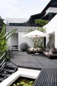 una terraza de lujo