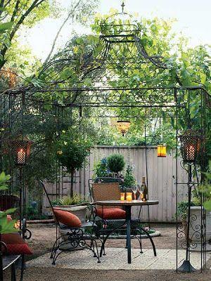 Pergolas de hierro para jardin