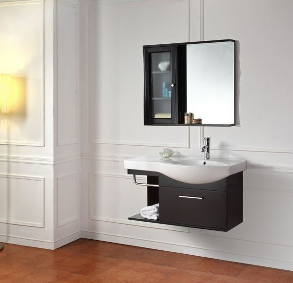 amoblamiento moderno para baño pequeño