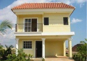 casa exterior amarillo palido