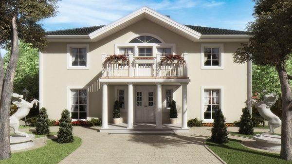 Casa exteriro estilo clasico casa web for Fachadas de casas estilo clasico