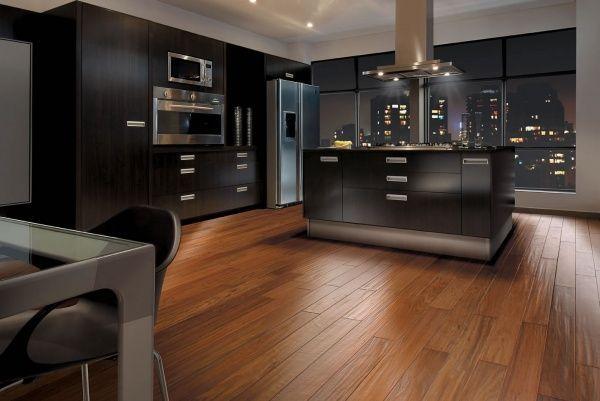 Cocina moderan con piso laminado casa web - Laminados para cocinas ...