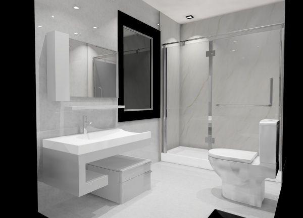 mueble para baño minimalista