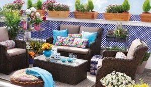 mueblesde mimbre para terrazas