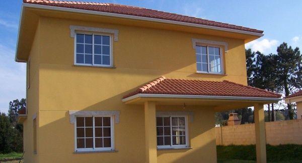 Pintar casa naranja palido casa web for Casas para exteriores
