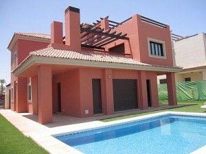 pintar casa rosa viejo con techo de tejas