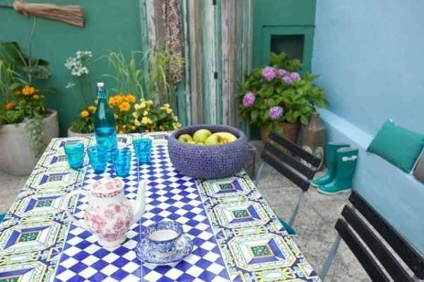 terraza con estilo mediterraneo