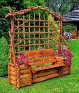 Adornos de exterior para jardin banco rustico para jardin