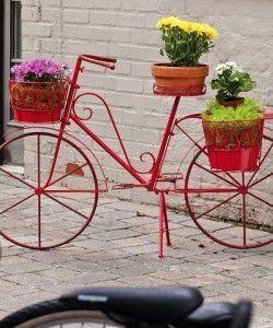 bicicletas con flores Adornos de exterior para jardin