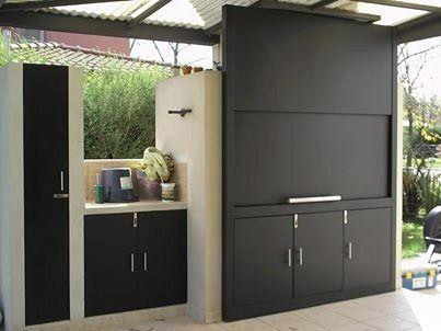 Dise os de parrillas modernas para quinchos casa web for Puertas para patios modelos