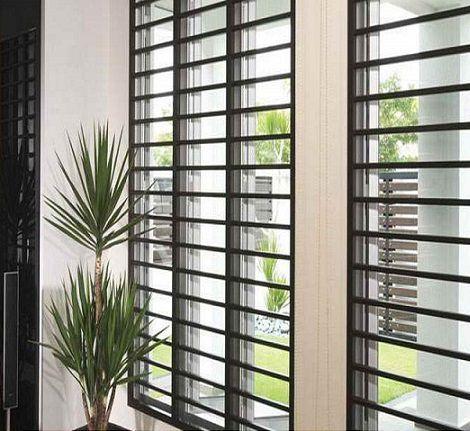 ventanales con rejas horizontales