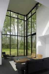 ventanales de acero para casas moderna