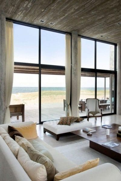 Ventanales de casas modernas casa web - Expansive large glass windows living room pros cons ...