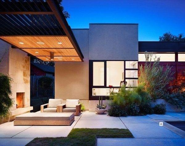 Galerias de casas modernas minimalista casa web for Fotos de jardines de casas modernas