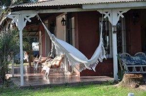 Galerias de casas de campo estilo antiguo - cama paraguaya