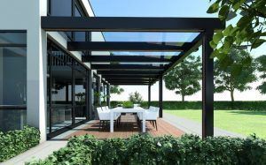 galeria de casa moderna techo de vidrio