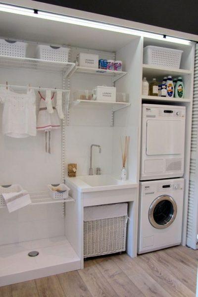 Lavanderia pequeña moderna