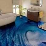 pisos de porcelanato liquido 3d baño