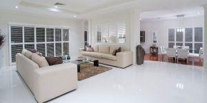 sala de estar piso de porcelanato liquido blanco