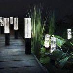 luz led para jardin
