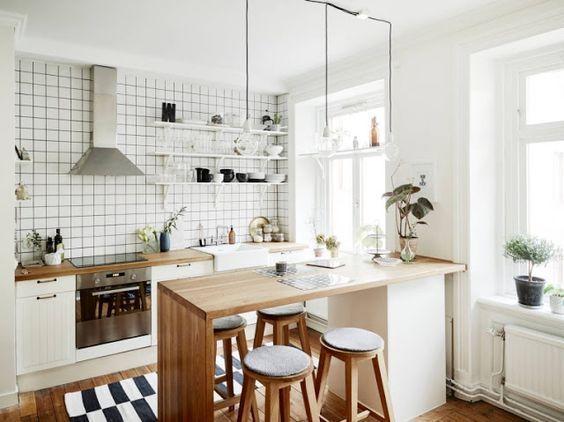 cocina - muebles de estilo nordico modernos