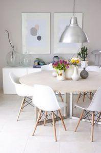 comedor con mesa redonda muebles de estilo nordico modernos