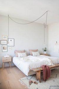 dormitorio matrimonial muebles de estilo nordico modernos