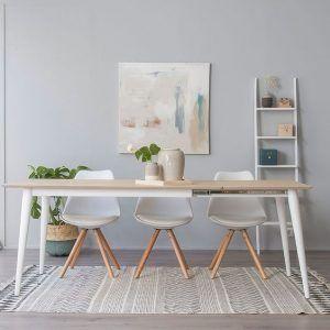 mesa comedor y sillas muebles de estilo nordico modernos