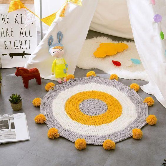 alfombra tejida para chicos - playroom