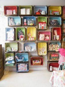 organizar juguetes reciclando cajones playroom