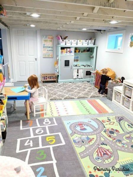 sala de juego en colores pasteles